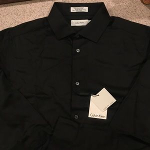 Boys black button-down dress shirt